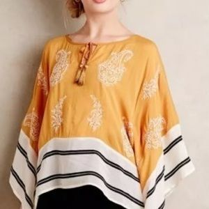ANTHROPOLOGIE Floreat Embroidered Kaftan L